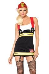 Costume 1 pièce Pompier M