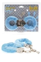 Menottes de poignets recouvertes de fourrure bleue