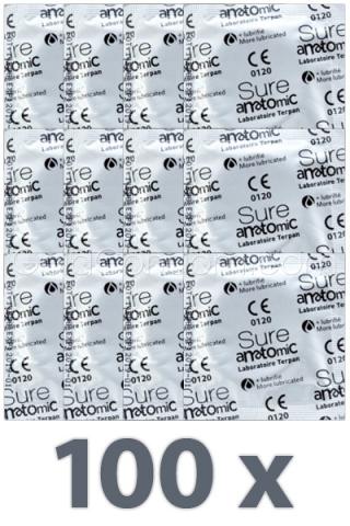 100 préservatifs Sure Anatomic