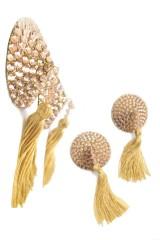Bijoux pour tétons en cristaux or