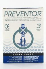 3 préservatifs Preventor Super Duper