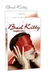 Echarpe de satin rouge Bad Kitty