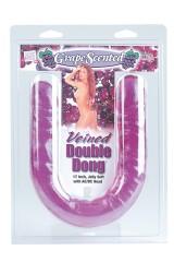 Double Gode veiné 43 cm Jelly