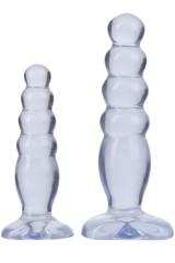 Kit de 2 anal toys clair Doc Jonson
