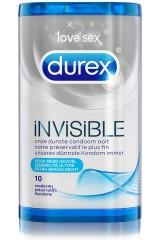 Durex Invisible - 10 préservatifs extra fins