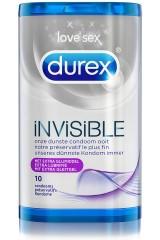Durex Invisible Extra lubrifié - 10 préservatifs
