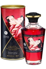 Huile chauffante Shunga aphrodisiaque cerise 100ml