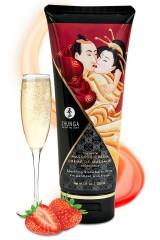 Crème de massage Shunga comestible aux fraises