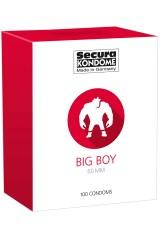 100 préservatifs Secura Big Boy 60 mm