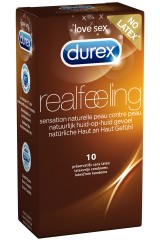 10 Durex Real Feeling sans latex