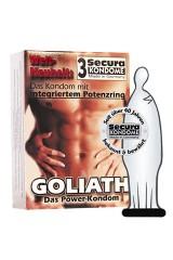 3 préservatifs Secura Goliath