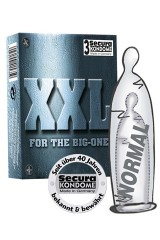 3 préservatifs Secura XXL