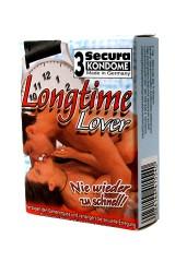 3 Secura Longtime Lover - Préservatifs retardants