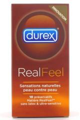 10 Préservatifs RealFeel de Durex - Sans latex !