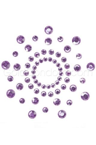 Bijoux de sein violet Mimi