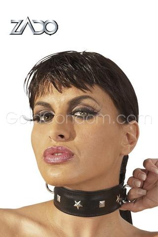 Collier cuir BDSM