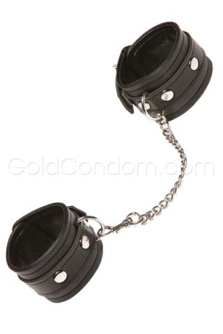 Menottes noires avec chaine argentée XPLAY