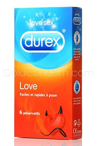 6 préservatifs Durex Love