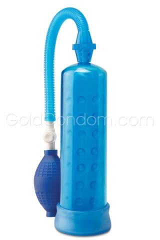 Pompe pour agrandissement pénis - 19 cm - Bleue