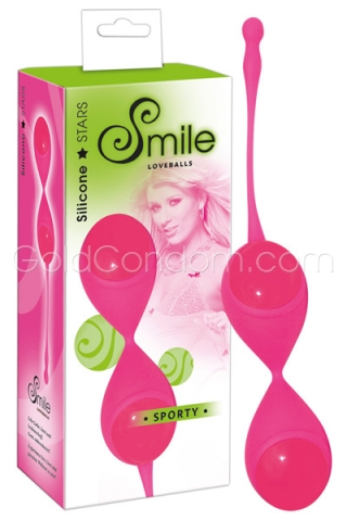 Boules de geisha Smile en silicone rose