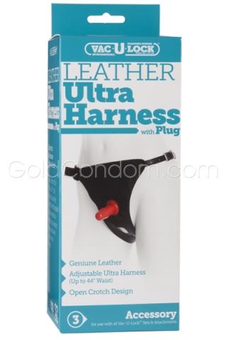 Harnais en véritable cuir Vac-U-Lock Unisex 3000