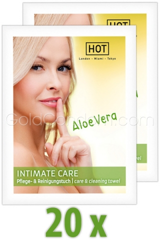 20 lingettes Intima Care de Hot