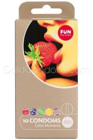 5 x 2 préservatifs Fruits Fun Factory
