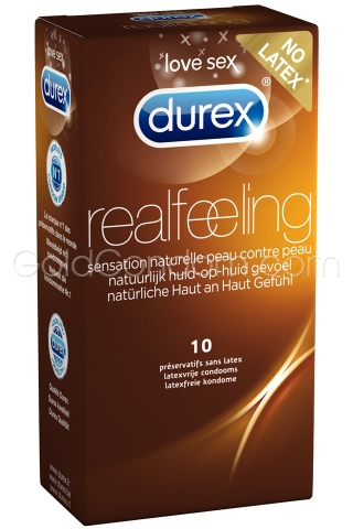 10 Durex Real Feeling sans latex