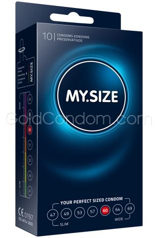 My.Size 60 mm - Boîte de 10 préservatifs