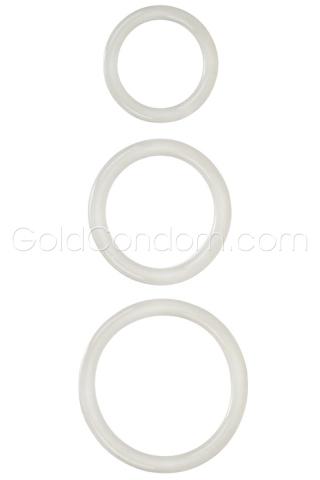 3 anneaux de pénis confortables blanc