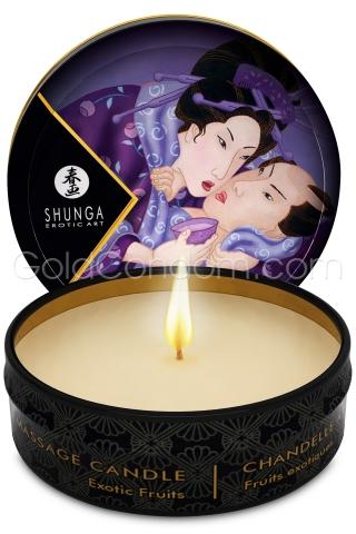 6  bougies de massage Shunga fruits exotiques