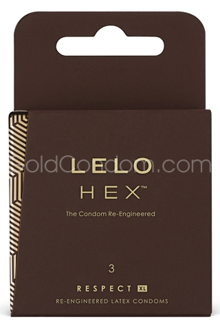 3 préservatifs HEX RESPECT XL en latex