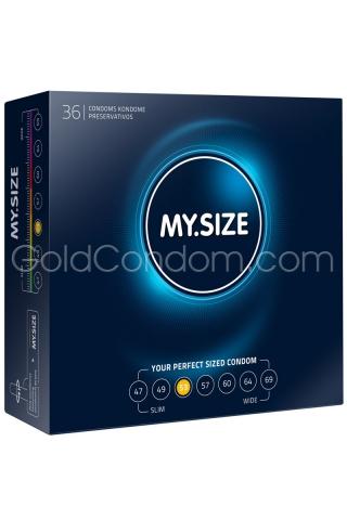 36 préservatifs My.Size de 53 mm