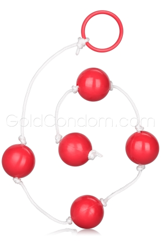 Chapelet anal large Calexotics rouge