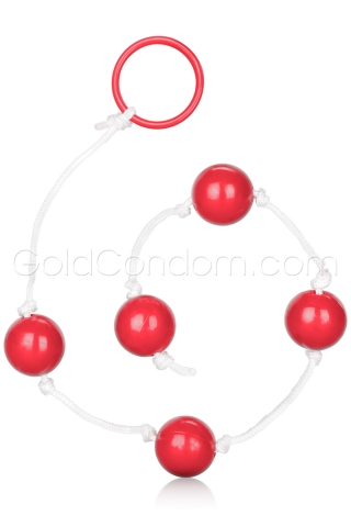 Chapelet anal moyen Calexotics rouge