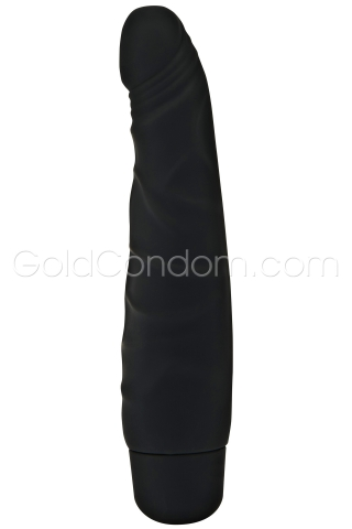 Vibromasseur Silicone 16 cm noir